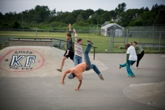 """Analog Persisting in a Skate Park"""